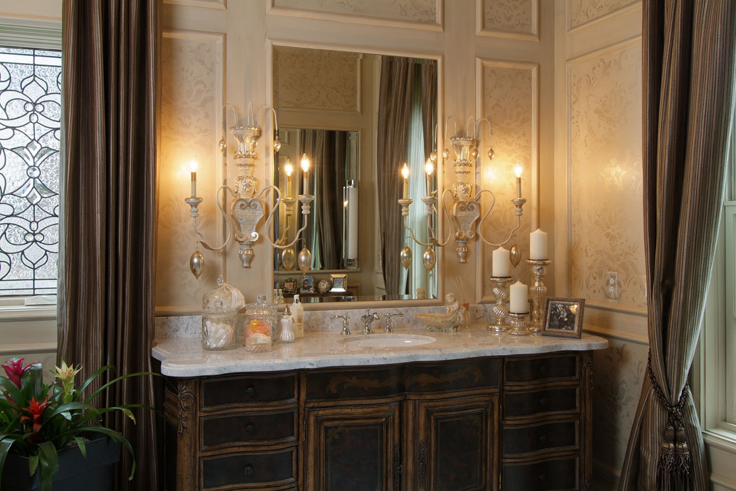 It 39 s all about the details custom bathroom mirror design for Custom bathroom design